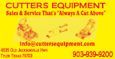 Cutter's Equipment